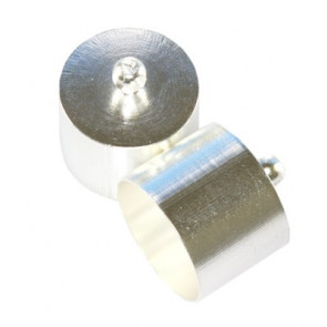 kovinski zaključek 13 mm, srebrne b., 1 kos