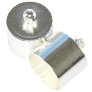 kovinski zaključek 14,3 mm, srebrne b., 1 kos
