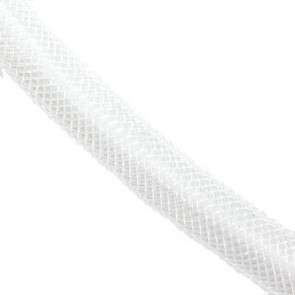 cev za nakit - tkana, 6 mm, bela, 1 m