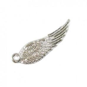 kovinski obesek krilo, 5x16,7 mm, srebrne b., 1 kos