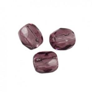 perle - češko steklo 3 mm, amethyst, 10 kos