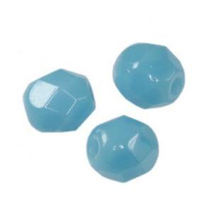 perle - češko steklo 4 mm, candy blue, 10 kos