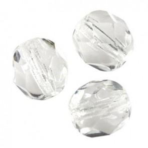perle - češko steklo 6 mm, crystal, 10 kos