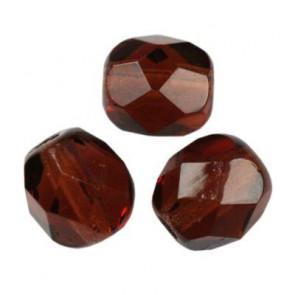 perle - češko steklo 6 mm, deep brown, 1 kos