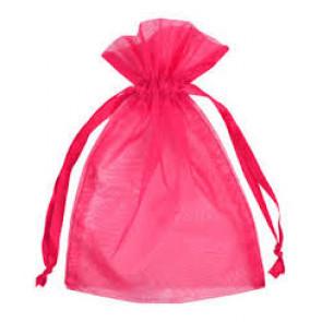 organza vrečke 14x17 cm, pink, 1 kos