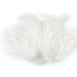 perje 10-17 cm, belo, 1 kos