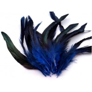 perje 15 cm, modre b., 1 kos