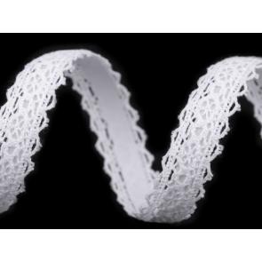 bombažni trak - videz čipke, samolepilni, 16 mm, t. bela b., 1.7 m