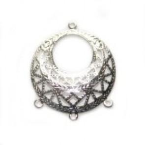 dekorativni dodatek 2,5 cm z zanko, posrebren, 1 kos