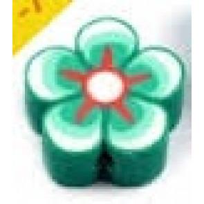 fimo perle, roža 15 mm, zelena, 1 kos