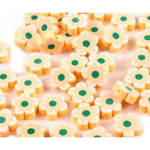 fimo perle, roža 15 mm, marelična, 1 kos