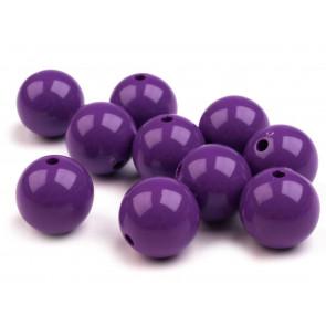 plastične perle 20 mm, vijola barve, 1 kos
