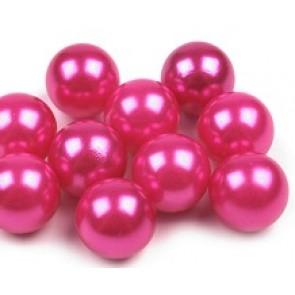 plastične perle brez luknje 10 mm, roza, 1 kos
