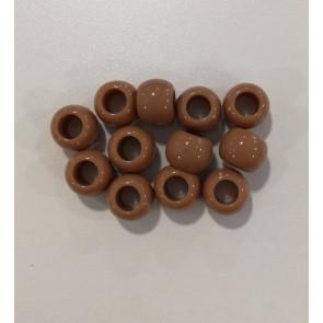perle iz um. mase z veliko luknjo, 11 x 14 mm, rjava, 1 kos