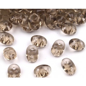 perle Rocailles 2,5x5 mm, 2 luknji, sivo-beige, 10 g