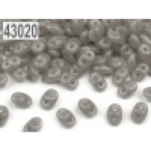 perle Rocailles 2,5x5 mm, 2 luknji, siva, 10 g