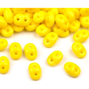 perle Rocailles 2,5x5 mm, 2 luknji, rumene, 10 g