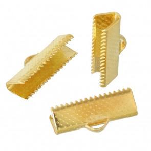 zaključni element za trak 30,5x8x5 mm, zlate barve, 1 kos