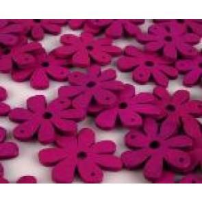 lesene perle roža 35 x 40 mm, roza, 5 kos