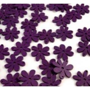 lesene perle roža 20 x 25 mm, vijola, 5 kos