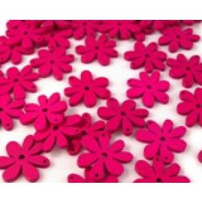 lesene perle roža 20 x 25 mm, roza, 5 kos