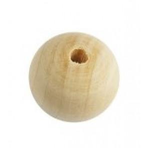 lesene perle, 30 mm okrogle, naravne, 1 kos