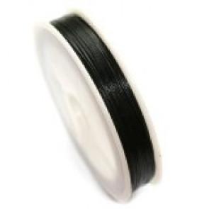 jeklena žica - zajla 0,45 mm, črna, dolžina: 85 m