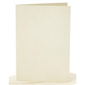 """osnova za vabila, 10,5x15 cm, 210 g,  bleščeče """"off white"""" umazano bela b., 1 kos"""