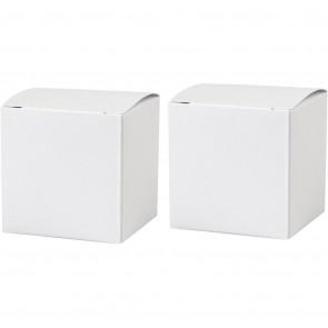 škatla iz kartona 5,5x5,5 cm, bela, 1 kos