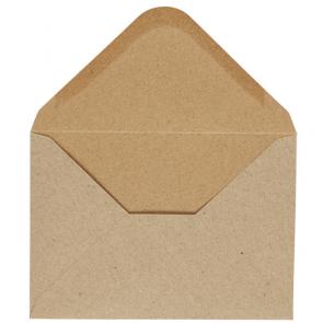 kuverta, 11,5x16,5 cm, 120 g,  rjave b., 1 kos