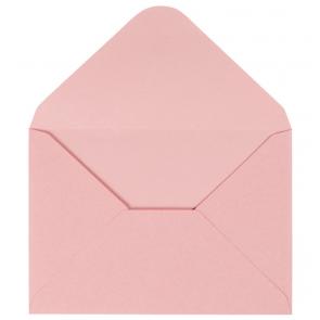 kuverta, 11,5x16,5 cm, 120 g,  pastelno roza b., 1 kos