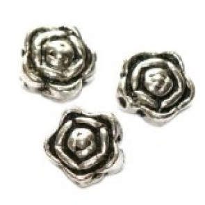 dekorativne perle 7 mm, kovinske, 10 kos