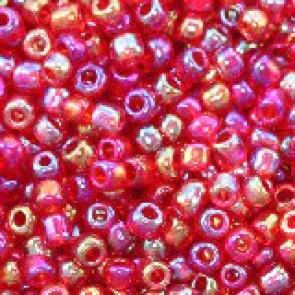 steklene perle 2 mm, rdeče mix, neprosojne, 20 gr