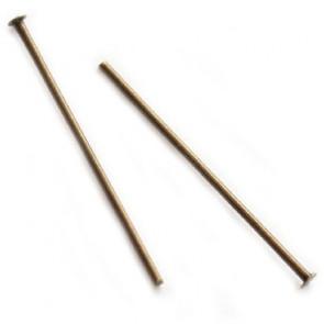 igla za perle 2,5 cm, antik, 10 kos