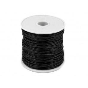 bombažna vrvica 0,8 mm, črna, dolžina: 25 m