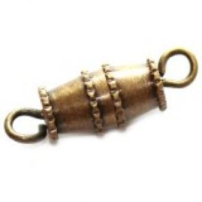 zaključni element na navoj 1,6 cm, antik, 1 kos