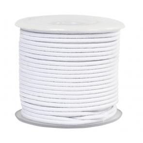 elastična vrvica, 2 mm, bela, 1 m