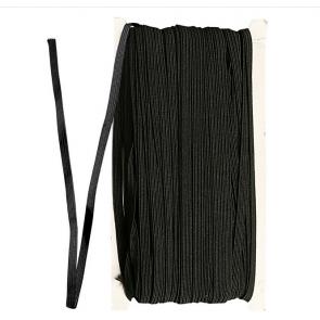 elastična vrvica, ploščata, širina: 6 mm, črna, 1 m
