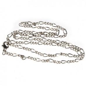 kovinska osnova za ogrlico 45 cm, srebrne barve, 1 kos