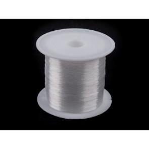 silikonska vrvica 0.18 mm, prozorna, neelastična, 80 m