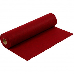 filc 1,5 mm, temno rdeč - teksturiran, 45 x 100 cm, 180-200 g/m2, 1 kos