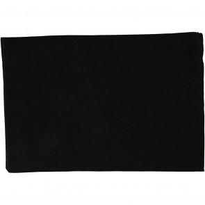 filc debeline 1.5-2 mm, črni, A4 21x30 cm, 1 kos