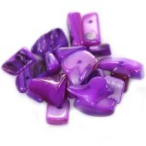 """školjke, """"čips"""" 0,5 - 1,5 cm, vijola, 50 gr"""