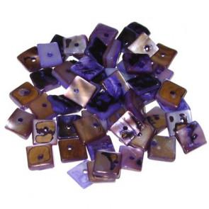 školjke, kvadratne ploščate 1 cm, vijola, 50 gr