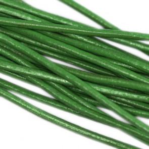usnjena vrvica 1,5 mm, zelena, 1 m