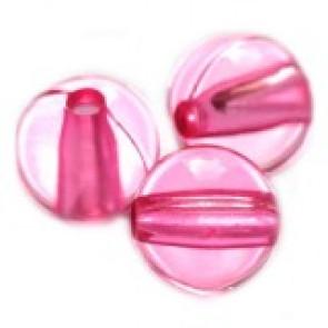 plastične perle, okrogle 6 mm, roza, 50 gr
