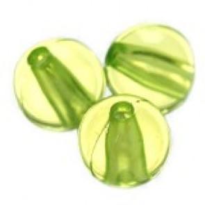 plastične perle, okrogle 6 mm, sv. zelene, 50 gr