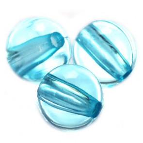 plastične perle, okrogle 8 mm, modre, 50 gr