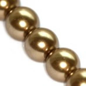 steklene perle, okrogle 8 mm, kašmir, 1 niz-80 cm