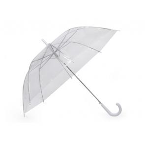 dežnik za poroko, prozorna b., 27 cm, 1 kos